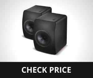 KEF LS50 Mini Monitor – High Gloss Piano Black (Pair), Speaker only