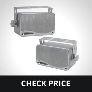 """3-Way Waterproof Marine Box Speakers - 3.5"""" 200 Watt Dual Indoor Outdoor Speaker System"""