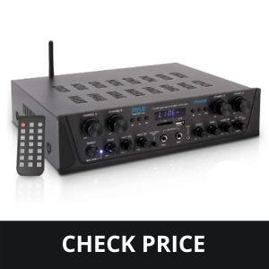 500W Karaoke Wireless Bluetooth Amplifier - 4 Channel Stereo Audio Home Theater Speaker